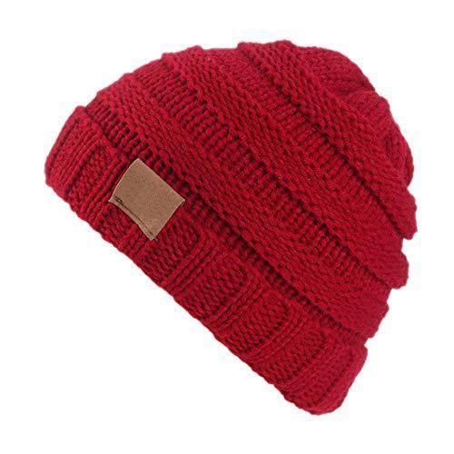 Vi.yo. Bonnet Bébé Fille Hiver Chaud Enfants Fille Bonnets Tricotés Bonnet Unisexe Automne Chapeau Chapeau Pas Cher Fashion Chic 2-8 Ans Rouge