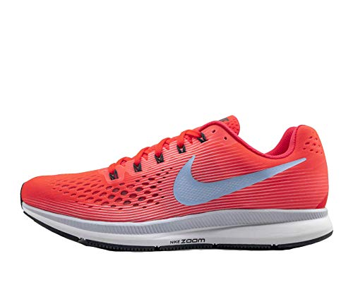 Nike Mens Air Zoom Pegasus 34 Running Shoes (9.5), Bright Crimson/Ice Blue-sail