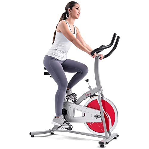 Sunny Health & Fitness Indoor Cycling Exercise Bike with LCD...