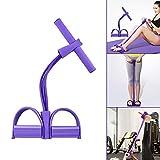 Oziral Multifunzione Banda di Resistenza del Pedale, 4 Tubi Corda Elastica Fitness Resistenza Allenamento per Yoga Sit-up Allungare Bodybuilding Espansore Attrezzi Palestra per Casa -Viola