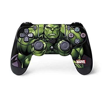 Skinit Decal Gaming Skin for PS4 Controller - Officially Licensed Marvel/Disney Hulk is Angry Design