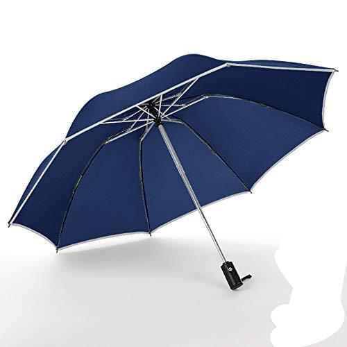 YYouRuiReflective Automatic Umbrella Folding Reverse Automatic Business Umbrella
