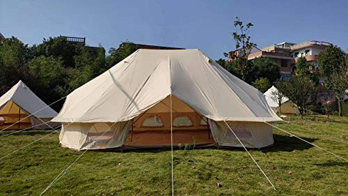 Dream House Large Waterproof Cotton Canvas Glamping Twin Emperor Bell Tent for 10~12 Person Campsite Hotel Tent