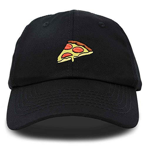 DALIX Pizza Slice Hat Baseball Cap in Black