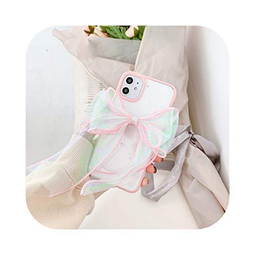 Fun-boutique Schutzhülle für iPhone 11, niedlich, 3D, Bogenbling, Pailletten, für iPhone 11 Pro XS Max X Se2020 7 XR 8 6 Plus, Silikon, weich, stoßfest, Style 2 für iPhone 11