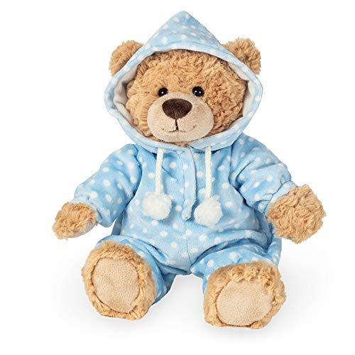 Teddy Hermann 91387 Teddy-Bär Schlafanzugbär blau 30 cm, Kuscheltier, Plüschtier
