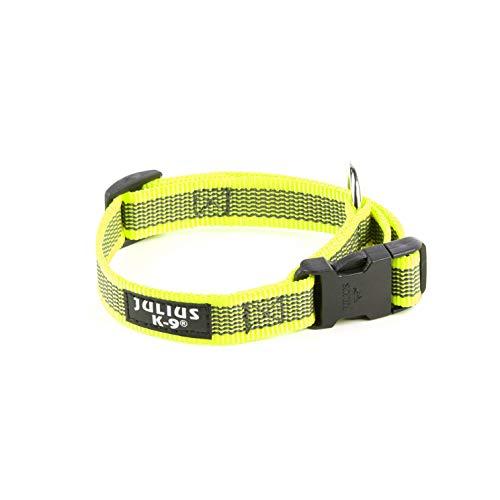 Julius-K9 Collar Color & Gray, 20 mm 27/42 cm, Neón/Gris