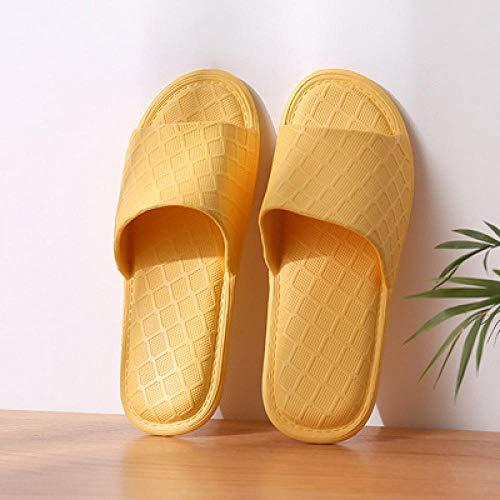Flip Flop-GQ Zapatillas de Playa Plegables portátiles de Viaje Hotel Vacaciones Hombres y Mujeres baño baño Sandalias y Zapatillas ultraligeras Antideslizantes-Yellow_40-41