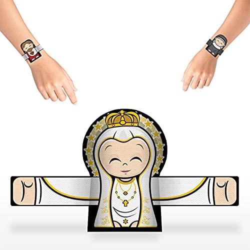 FGHUB Embrace The Angel and Snap The Bracelet, Pulseras de ángel de la Guarda para Mujer para la muñeca, Muñequeras de Abrazos de ángel, Pulsera de ángel de Dibujos Animados (1Pcs,Q)