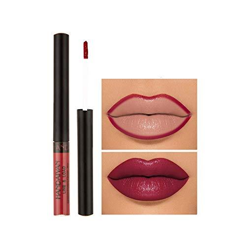 Kapian Matte Lippenstift Lipgloss Lip Liner Lip Glaze Lippenglasur Flüssiger Lipgloss Fruchtbefleckte Matte Liquid Lipstick Lasting Waterproof Wischfester lippenstift