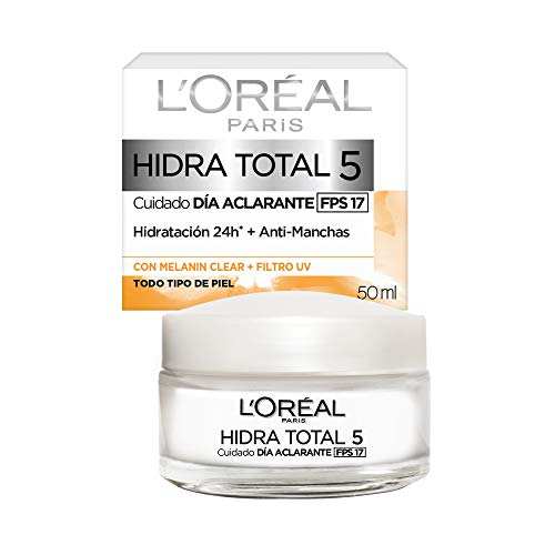 L'Oreal Paris Crema Antimanchas, Hidra Total 5, 50 ml