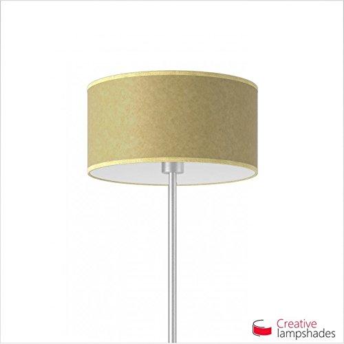 Creative lampshades lampenkap cilinder zandgeel pergament Amerikaans F10 Durchmesser 35cm - H. 22cm