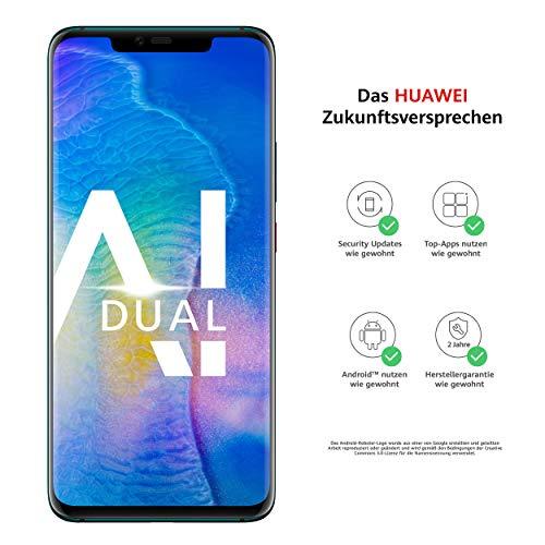 Huawei Mate20 Pro Dual-SIM Smartphone Bundle (6,39 Zoll, 128 GB interner Speicher, 6 GB RAM, Android 9.0, EMUI 9.0) Emerald Grün + USB Typ-C-Adapter [Exklusiv bei Amazon] - Deutsche Version
