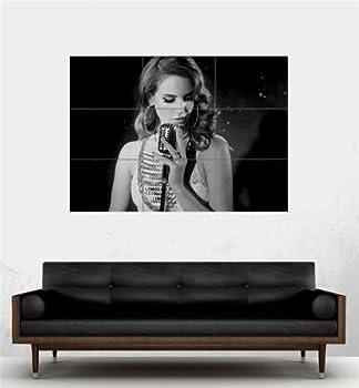 Doppelganger33 LTD Lana DEL Rey Singing Giant BW Poster Art Print PE566
