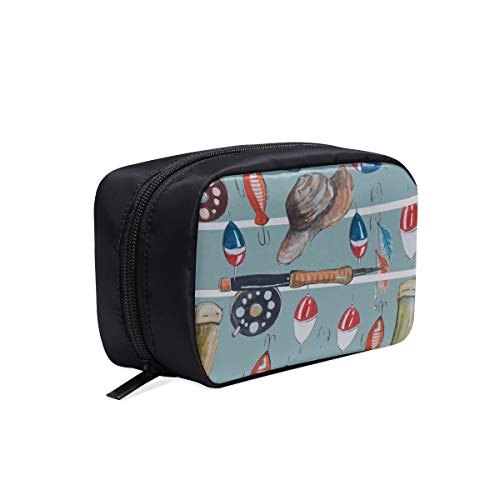 Bolsa de maquillaje de colores Hermosas herramientas para aparejos de pesca pequeños Bolsos de moda para mujer Organizador de bolsa de aseo colgante Bolsa de viaje para hombre Bolsas de cosméticos E