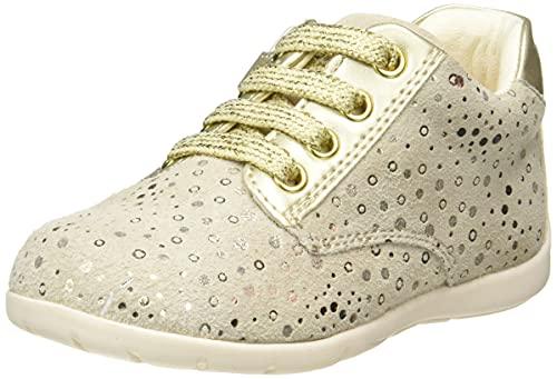 Geox Jungen Mädchen B Kaytan B Sneaker, Gold (Beige/Gold C0871), 24 EU