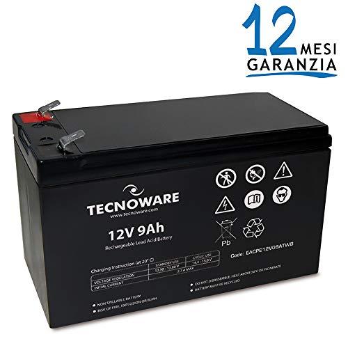 Tecnoware Batteria Ermetica al Piombo 9Ah, per UPS, Video Sorveglianza e Sistemi...