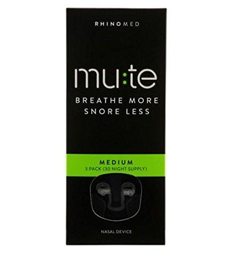 Rhinomed Mute Mediana 3-paquetes (30 Noche Tratamiento) - Transparente, Mediana
