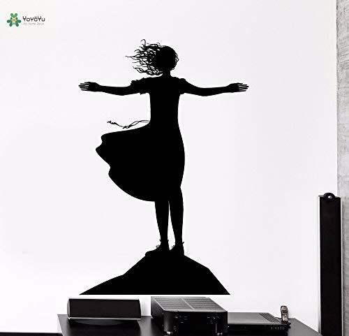 hetingyue wandlamp van vinyl, voor meisjes, om te knuffelen, wind, romantisch, voor slaapkamer, decoratie, zelfklevend