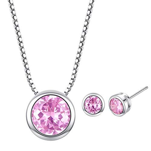 Gmgod Cadena con colgante de perlas de lujo para mujer conjunto de joyas - Multi color - Talla unica