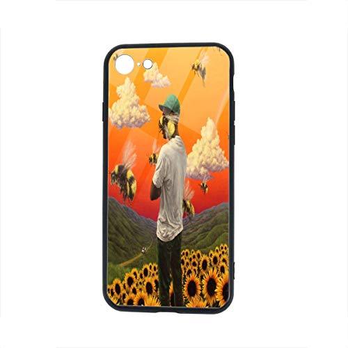 Carcasa para iPhone 7, Carcasa para iPhone 8, Carcasas con Marco de protección de Vidrio de TPU para iPhone 7/8 4.7'(Golf Wang Tyler The Creator Rap)