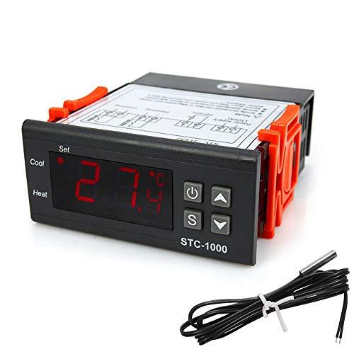 COVVY STC-1000 Controlador de temperatura digital Centigrado AC 110-220V controlador de refrigeración de calefacción/w sonda sensor NTC de 3 pies
