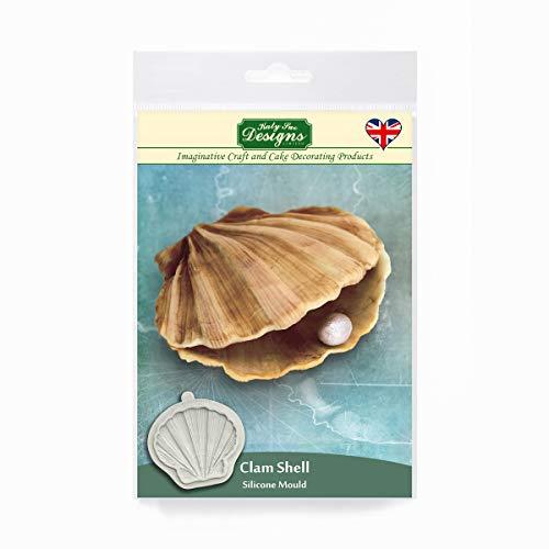 Molde de concha de almeja para decorar pasteles, manualidades, magdalenas, azúcar, galletas, dulces, tarjetas y arcilla, apto para alimentos, hecho en el Reino Unido