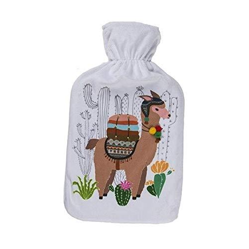 Eurrowebb Lama - Bolsa de agua caliente con funda de peluche suave