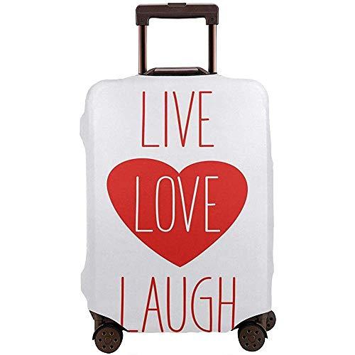Cubierta de Equipaje de Viaje Estilo de Vida Icono de corazón con Forma Sonriente y Frase Protector de Maleta artístico Tamaño L