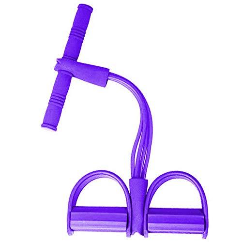 Senbos Widerstandsbänder, 4 Tube Elastische Zugseil Pedal Fitnessbänder, Bodybuilding Expander Latex rutschfeste Sit-up Trainingsgerät für Yoga, Abnehmen und Krafttraining