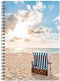 Ladytimer Ringbuch Beach - Taschenkalender A5 - Kalender 2021 - Alpha Edition-Verlag - Eine Woche auf 2 Seiten - Buchplaner mit Platz für Notizen - Format 14,8 cm x 20,8 cm