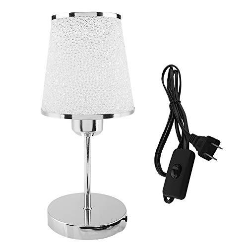 koulate Nachttischlampe, Retro Style LED-Schreibtischlampe, Minimalistische Tischleuchte aus massivem Holz, ideal für Schlafzimmer oder Büro, mit/ohne Glühlampe (optional) (AC85-265V) (1#)