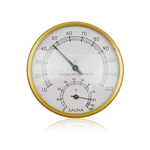 buycheapDG(JP) サウナ 温度計 壁掛け 湿度計 防水 電池不要 温湿度計 浴室 お風呂 温泉 見やすい 読みやすい 多機能な温度計 サウナルームアクセサリー 丸型 健康管理 屋内の温度計 錆防止 高精度