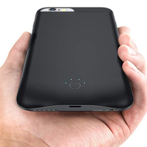 EMNT Funda con batería para iPhone 8/7/6s/6 – 6500 mAh 2020 – Funda de batería portátil para iPhone 6/7/8/6S.