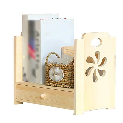 Independiente decorativo Estanterías, cajas de almacenamiento de equipos de escritorio con tallado de madera maciza, cajas de almacenamiento de escritorio, estantes de almacenamiento Organizador de al