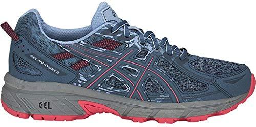 ASICS Women's Gel-Venture 6 MX Running Shoes, 9.5M, Steel Blue/Pink Cameo