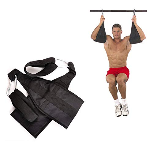 Exuberanter 2PCS Hanging Ab Straps Armschlaufen Bauchtraining Sport Fitness Training Mit Quick Locks Für Klimmzugstange Gewichtheben Bauchmuskelübung