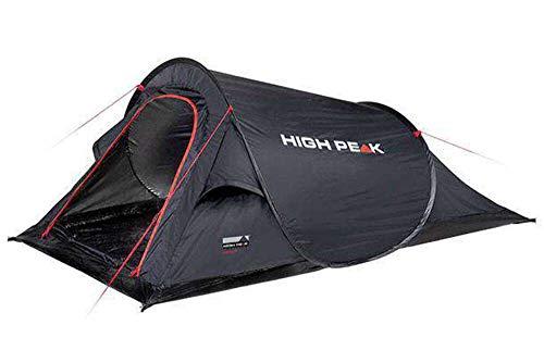 High Peak Wurfzelt Campo 2, Pop Up Zelt für 2 Personen, Festivalzelt mit Wannenboden, super leichtes Schnellöffnungs-Wurfzelt, 1500 mm wasserdicht, Ventilationssystem, Moskitoschutz