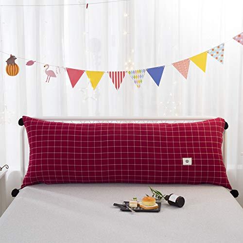 Shuhong hoofdkussen rugleuning driedimensionaal groot sofakussen dubbele lange baby anti-botsing hoofdeinde mat lezen huishoudtextiel cadeau