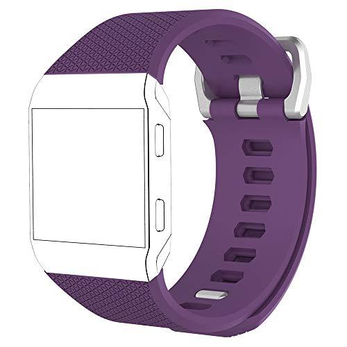 MyFitBands Armband kompatibel für Fitbit Ionic Ersatz Qualität stylisches Band verstellbar sicheren Verschluss, Lila Klein