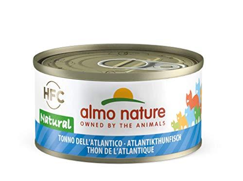 Almo Nature HFC Natural Katzenfutter nass -Atlantikthunfisch 24er Pack (24 x 70g)