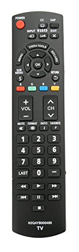 New N2QAYB000485 Replaced Remote fit for PANASONIC TV TC-P50U2 TC-P50X2 TC-P54S2 TC-P58S2 TC-P65S2 TH-32LRU20 TH-37LRU20 TH-42LRU20 TC-42PX34 TH-32LRH30U TH-32LRU30 TH-42LRU50 TH-37LRU50