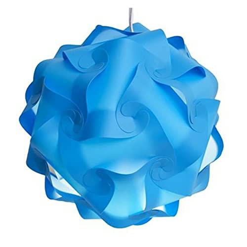 Moderna Creatividad IQ Puzzle Luz Lámpara de Lámpara de Techo Pantalla Decoración Chandelier Colgante Luz Accesorios para el hogar (Color : Azul)