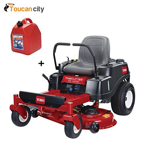 Toucan City Toro TimeCutter SS4200 107 cm Tondeuse à gaz 452 CC Double hydrostatique Zero-Turn avec...
