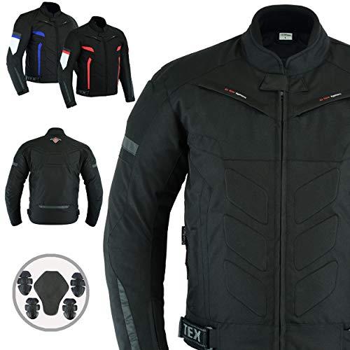 42-44 JET Motorcycle Motorbike Jacket Mens Textile Waterproof CE Armoured Tourer Grey, X Large
