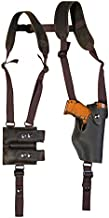 Barsony New Brown Leather Vertical Shoulder Holster w/Dbl Mag Pouch for S&W 6926 908 909 Right