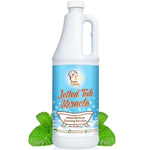 Jetted Tub Miracle - The Best Jacuzzi Tub Jet Cleaner, Whirlpool Bathtub Jet Cleaner, Easy to use Spa Hot Tub & Bath System Natural Cleaning Solution Remover, Amazing Value 8 Cleanings, Smells Great