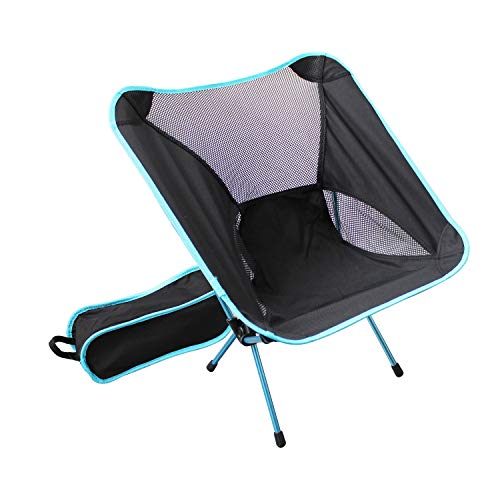 HFS (R) Outdoor High Back Lightweight Camp Chair with Headrest and Carry Case-LARGE