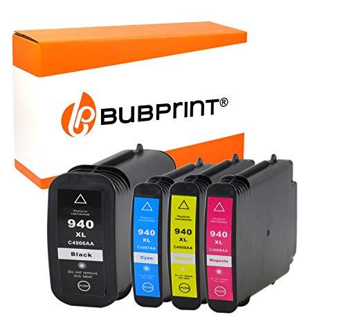 Bubprint Kompatibel Druckerpatronen als Ersatz für HP 940XL 940 XL für OfficeJet Pro 8000 Enterprise Wireless 8500 Premier 8500A Plus Premium Schwarz Cyan Magenta Gelb Multipack 4er-Pack