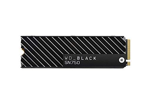 WD Black SN750 High-Performance NVMe Internal Gaming SSD with Heatsink, 500 GB